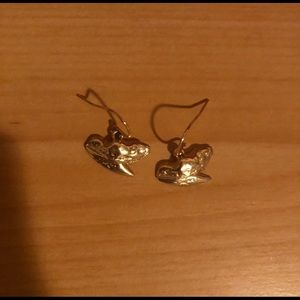 14kt Gold plated shark tooth earrings